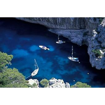 Välimeren rannikon Ranskan Riviera Juliste Tulosta, jonka Gavriel Jecan