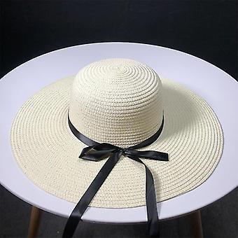 Chapeaux de paille, Ma & am Leisure Go On A Journey Bow Straw / Chapeau plein air Chapeau de soleil