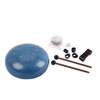 Hand Pan Drum Tongue Drum Thumb Piano Percussion Instruments Blue