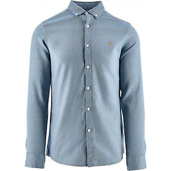 Farah Blue Hurst Twill Shirt