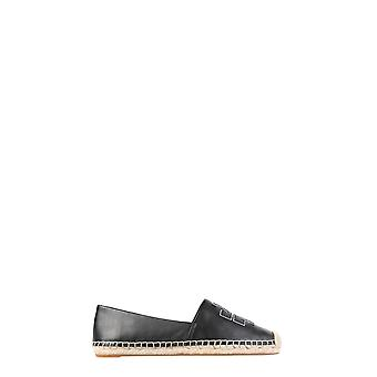 Tory Burch 52035013 Kvinder's Black Leather Espadrills
