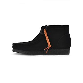 Clarks Originals Black Suede Wallabee Boot