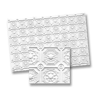 Dolls House Faux Tin Ceiling Miniature 1:12 Scale Foam Board 13 X 9 Inches