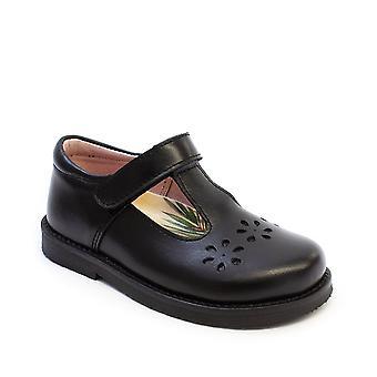 PETASIL Velcro Tbar Lurdes School Shoe