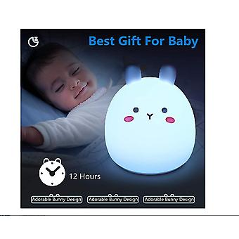 Night Light For Kids Cute Bunny Baby Nightlight Silicone Led Lamp For Children