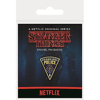ストレンジャーシングスホーキンス警察エナメルバッジ
