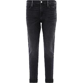 Frame Lgj278pembroke Women's Black Cotton Jeans