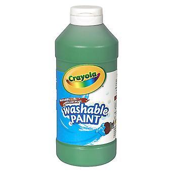 Pintura lavable, verde, 16 oz.