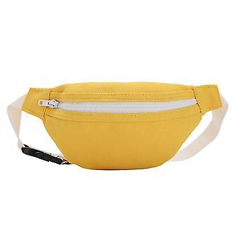Kids Casual Fanny Waist Bag, Canvas Women Chest Bum Belt Pack Zipper Shoulder