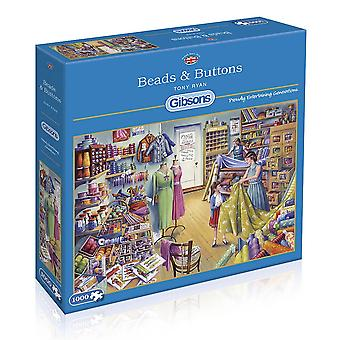 Gibsons 1000 Piece Beads & Buttons Jigsaw Puzzle