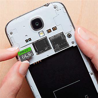 Micro SD -muistikortti sovittimen PNY 64 Gt 100 mb/s kanssa