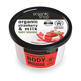 Organic Strawberry and Milk Body Mousse 250 ml