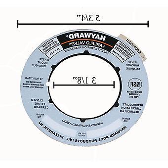 Hayward SPX0715G Label Platte für Ventile und Sandfilter