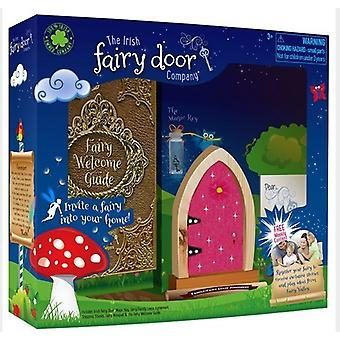 The irish fairy door company dark pink sparkly arched door