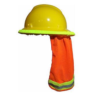 Summer Sun Shade & Safety Casques bouclier col casques casques, bande réfléchissante