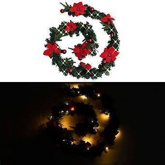 vidaXL عيد الميلاد مع أضواء LED الأخضر 2.7 م PVC