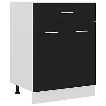 Drawer Bottom Cabinet Black 60x46x81.5 Cm Chipboard