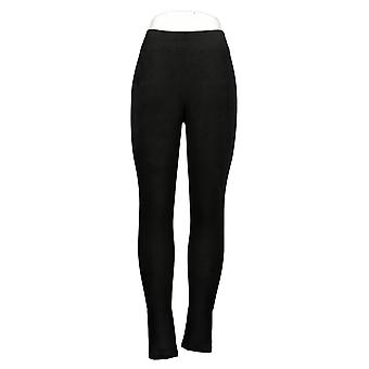 Cuddl Duds Leggings Fleecewear Stretch Pull On Waistband Black A369295