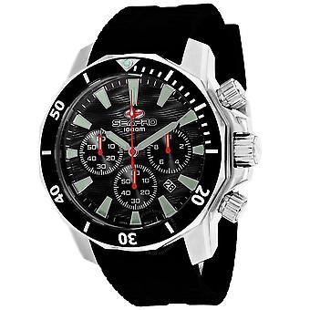 Seapro Scuba Dragon Diver Limited Edition 1000 Meters Chronograph Quartz Black Dial Men's Watch SP8340R