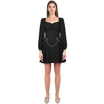 שיק כוכב Tencel מיני שמלה בשחור