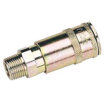 Draper 51408 Bulk 3/8 BSP Taper Male Thread Vertex Air Coupling (Sold Loose)