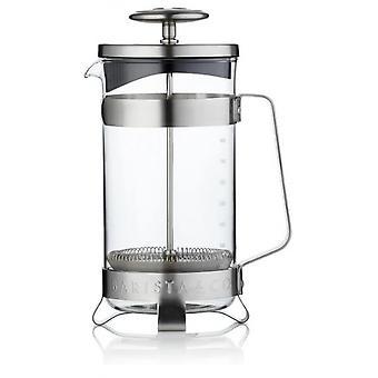cafeteria 900 ml Edelstahl/Glas silber
