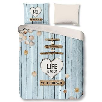 bed cover Beach 135 x 200 cm cotton white