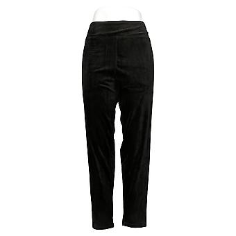 Cuddl klær leggings dobbel plysj velour svart A293100