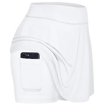 Pantaloncini da tennis skinny da donna 2 in 1, pantaloncini yoga