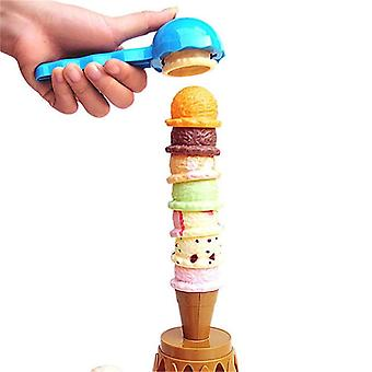 Ice Cream Stack Up Play Tower, Educational, Kids Cute Simulation Food Toy,