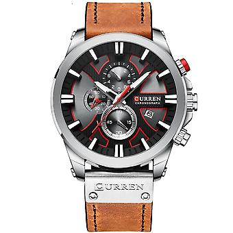 Men Leather Casual Sport Watch