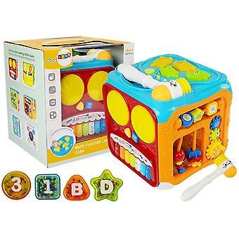 Activiteitenkubus met licht en geluid – 21 cm – Educatief speelgoed