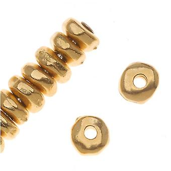 TierraCast 22K Gold Plated Pewter Nugget Heishe Beads 5mm (20)