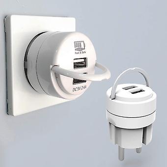 FengChun USB Netzteil USB Stecker, USB Ladegerät 2.4A Ladeadapter 2 Ports Netzteile mit Ausziehbügel