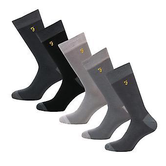 Men's Farah Winston 5 Pack Socks in Grey