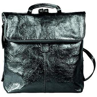 Clairefontaine Cuir noir Casual Backpack 34 centimeters Black (Noir)