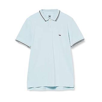 Lee Pique Polo T-Shirt, Sterling Blue, X-Large Men's
