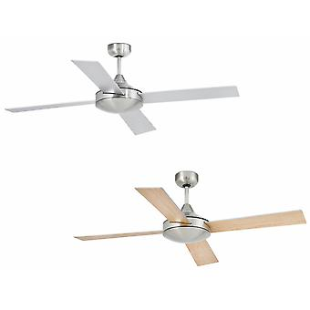 """Ceiling fan Mallorca Nickel 132cm / 52"""" with remote"""