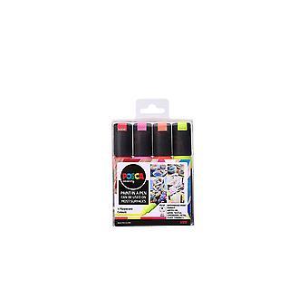 """153544859 PC-8K """" Fluoreszierende Farbe im Pen""""-Set, 8 mm breite Keilspitze aus Acryl,"""