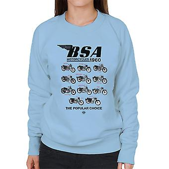 BSA Motorcycles 1960 The Popular Choice Women's Sweatshirt
