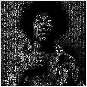JUNIQE Print -  Jimi - Jimi Hendrix Poster in Grau & Schwarz
