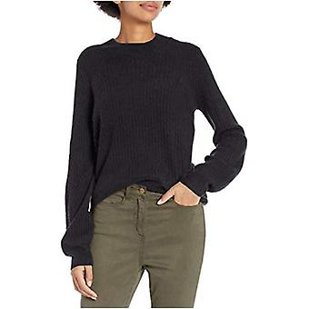 Brand - Daily Ritual Women's Mid-Gauge Stretch Balloon Sleeve Crewneck Pullover Sweater