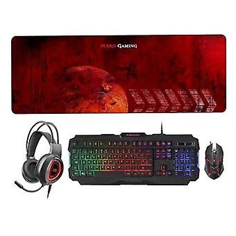 Tangentbord och mus Mars Gaming MCPRGB2ES (ES)