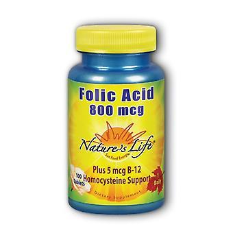 Nature's Life Folic Acid, 800mcg, 100 tabs