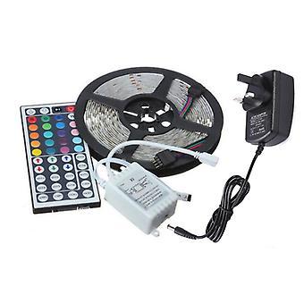 15M RGB 3528 LED-Streifenleuchten Farbwechsel mit IR-Fernbedienung Stromversorgung