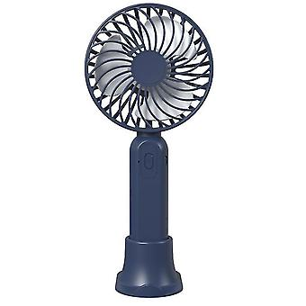 Mini Hand-held Small Folding Desk Fan Cooler Cooling USB Rechargeable Portable(Black)