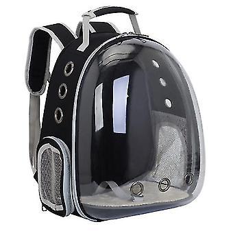 Cat Carrier Backpack,Space Capsule Knapsack Pet Travel Bag Waterproof Breathable(Black)