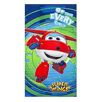 Mästerflygarna Super Wings Jett On Time Every Time! Towel Bath towel