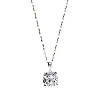 Eira Wen  Necklace With Cubic Zirconia Pendant Set In Sterling Silver Chain Jewellery For Women Ladies Anniversary Birthday Mothers Day Gifts For Her