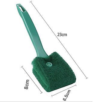 (Green/23cm) Aquarium Glass Brush Fish Cleaning Scraper Algae Tank Dust Cleaner Sponge Tools 23/40cm